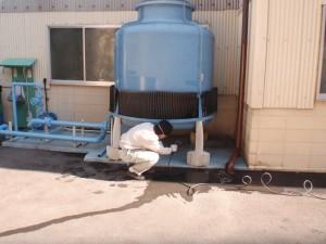 工場冷却装置の清掃