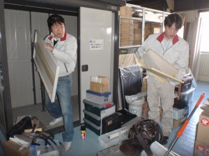 営業部備品庫の整理